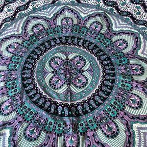 Urban Outfitters Mandala Tapestry Purple Green